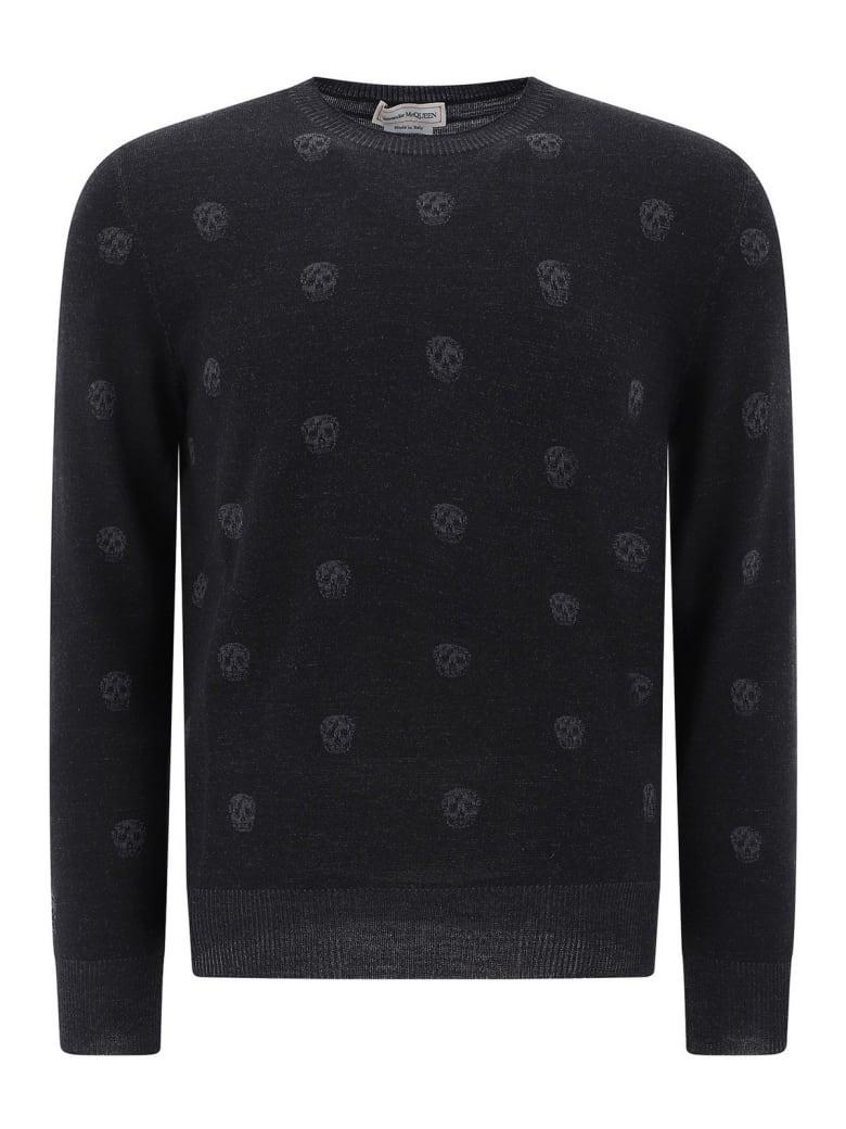 Alexander McQueen Crew Neck Pullover - Black/charcoal