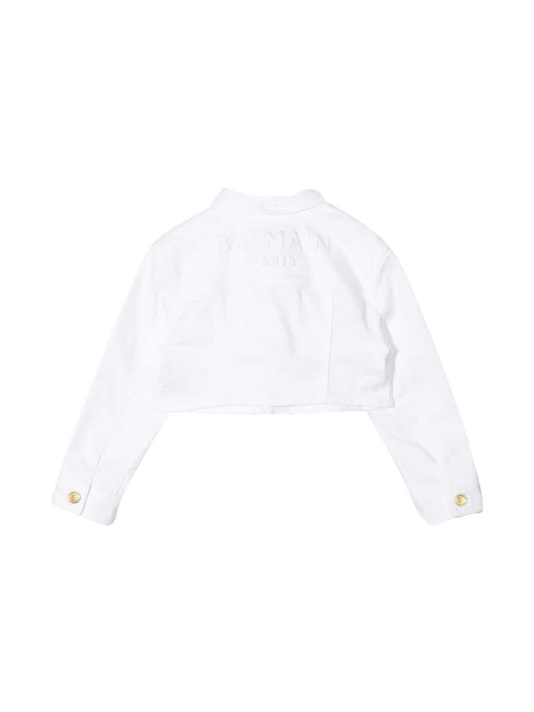 Balmain White Denim Jacket - Bianco