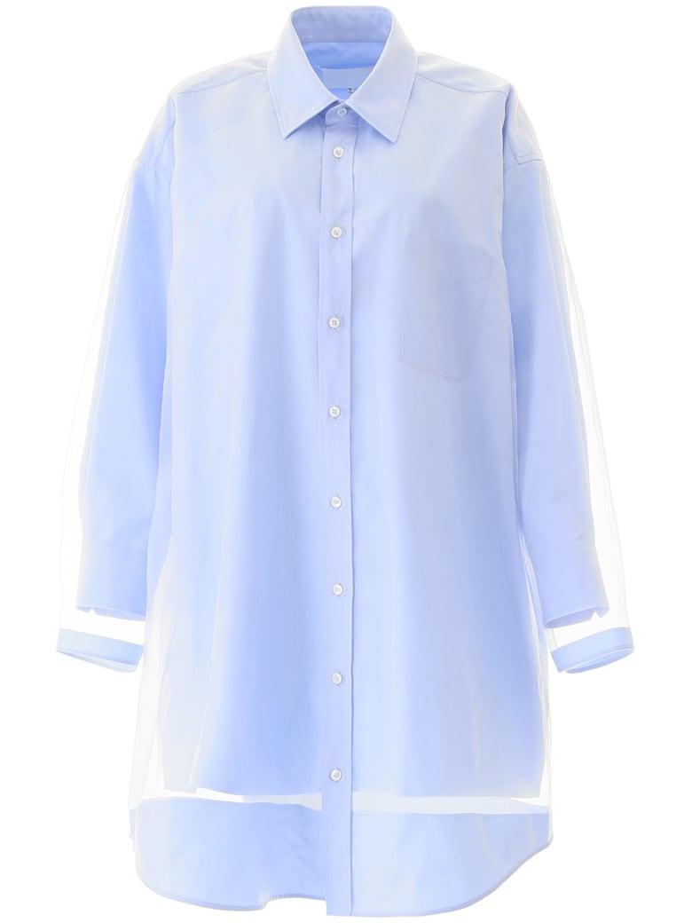 Maison Margiela Shirt Dress - WHITE LIGHT BLUE (Light blue)