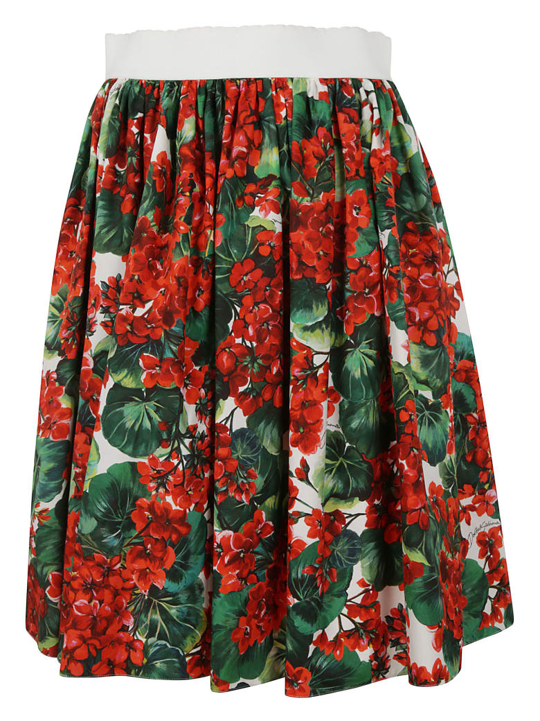 Dolce & Gabbana Floral Print Skirt - floral