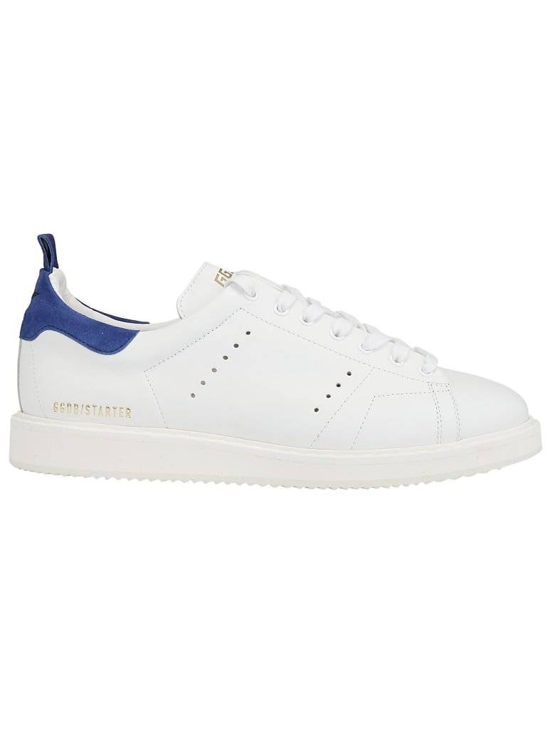 Golden Goose Ggdb Starter Sneakers - White suede/royal suede