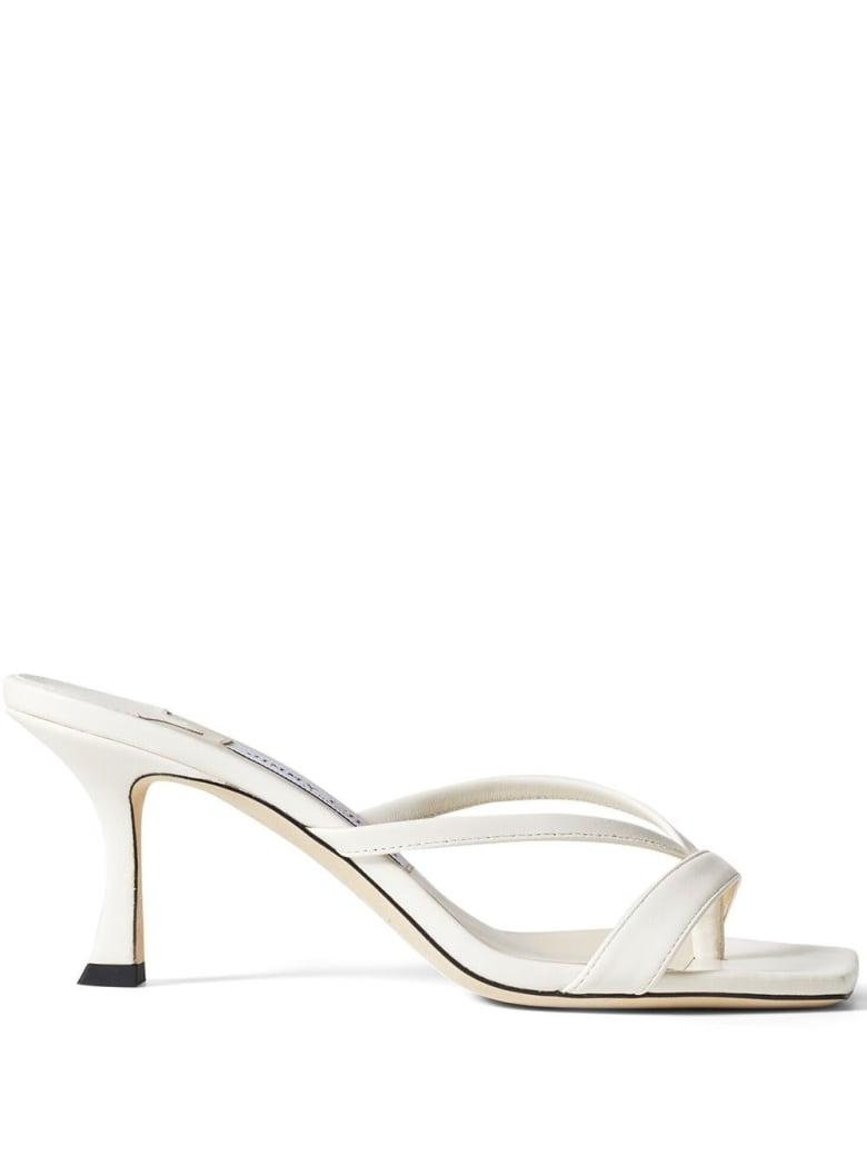 Jimmy Choo Maelie White Leather Mules - White