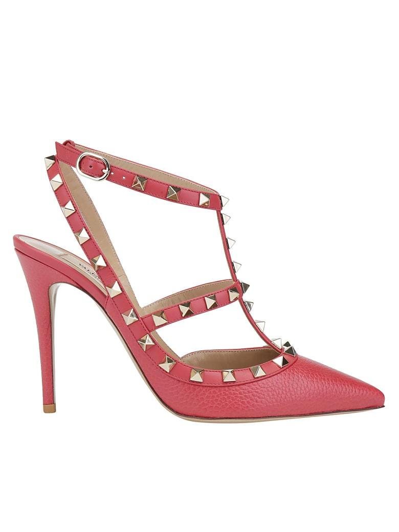 Valentino Garavani Ankle Strap Rockstud - Rock pink
