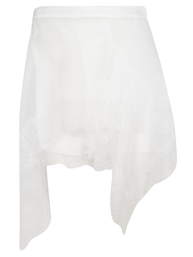 Ermanno Scervino Floral Lace Skirt - white