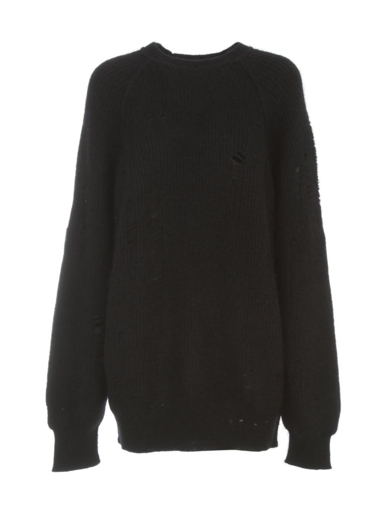 Y's Wool Mohair Sweater L/s Crew Neck - Black