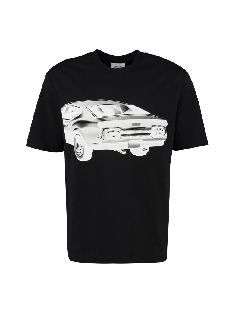 Calvin Klein Jeans Printed Cotton T-shirt - black