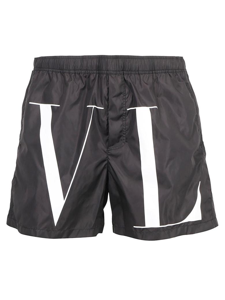Valentino Logo Swimwear - Nero/bianco