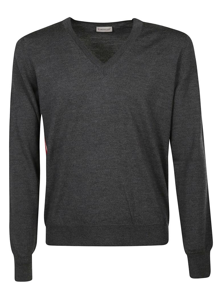 Moncler V-neck Sweater - Grey