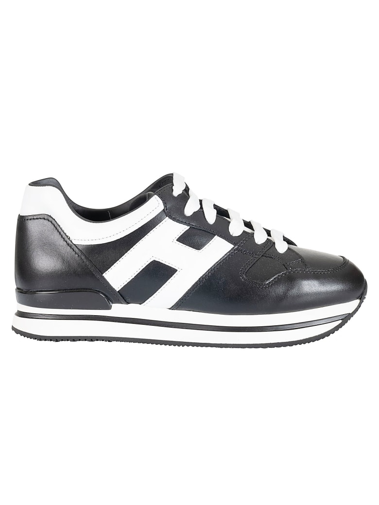 Hogan H222 Platform Sneakers - Black/White