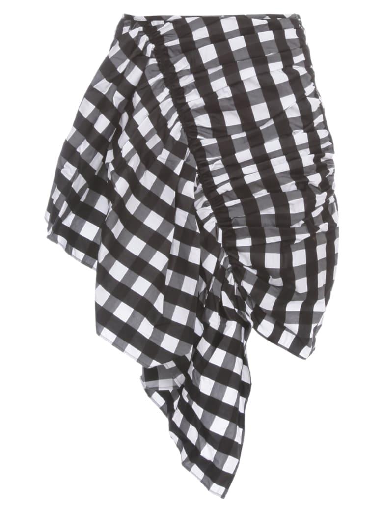 Marques'Almeida Skirt Gathered Mini - Black White