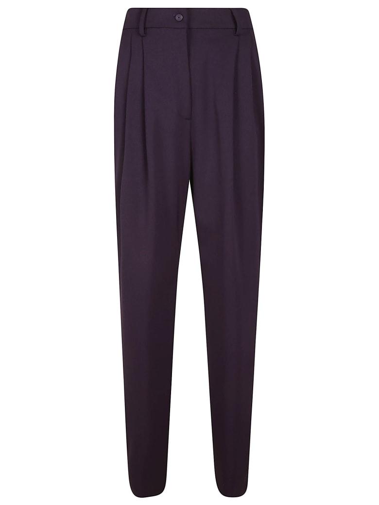 Alberta Ferretti Classic Slim Trousers - Purple