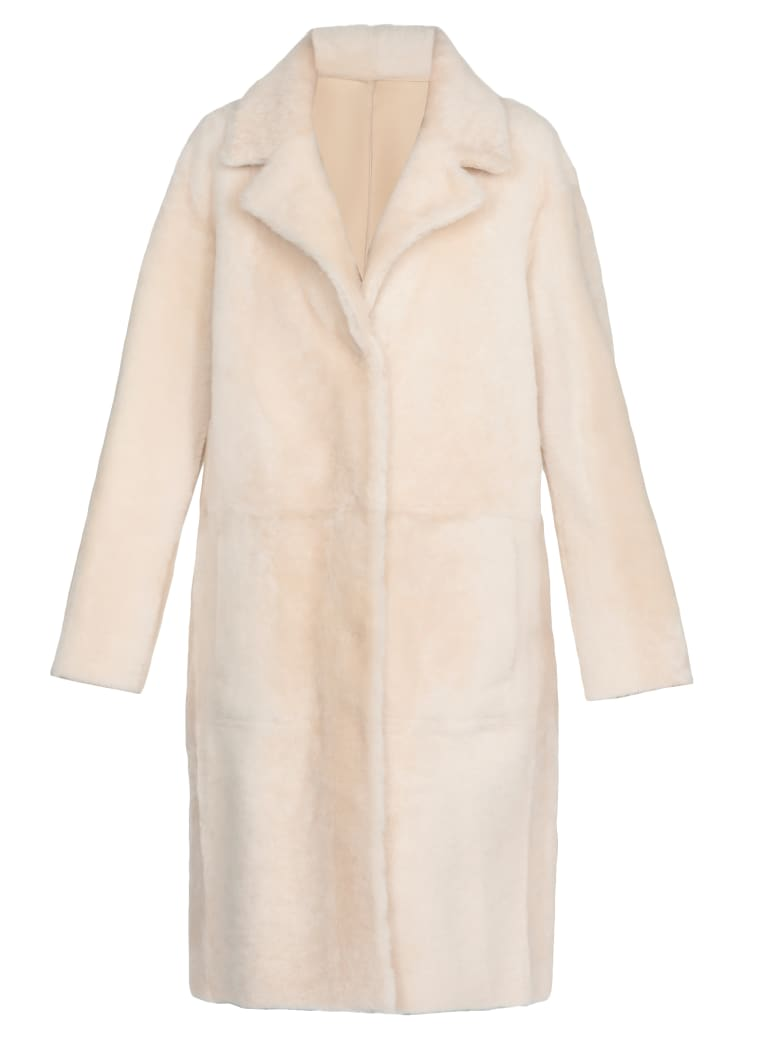 DROMe Leather Coat - OFF WHITE