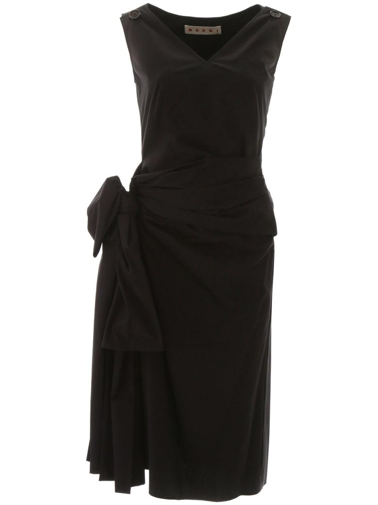 Marni Draped Dress - BLACK (Black)