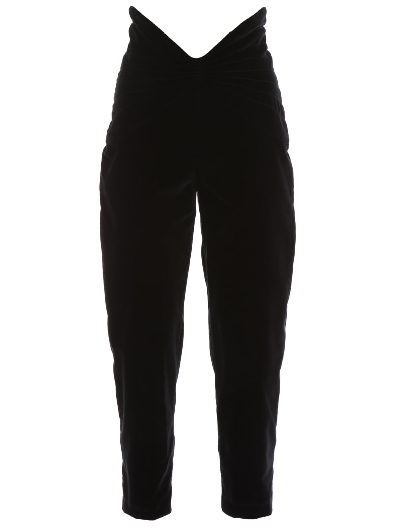 The Attico Velvet Trousers - BLACK (Black)
