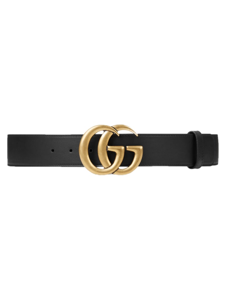 Gucci Black Leather Belt - Nero