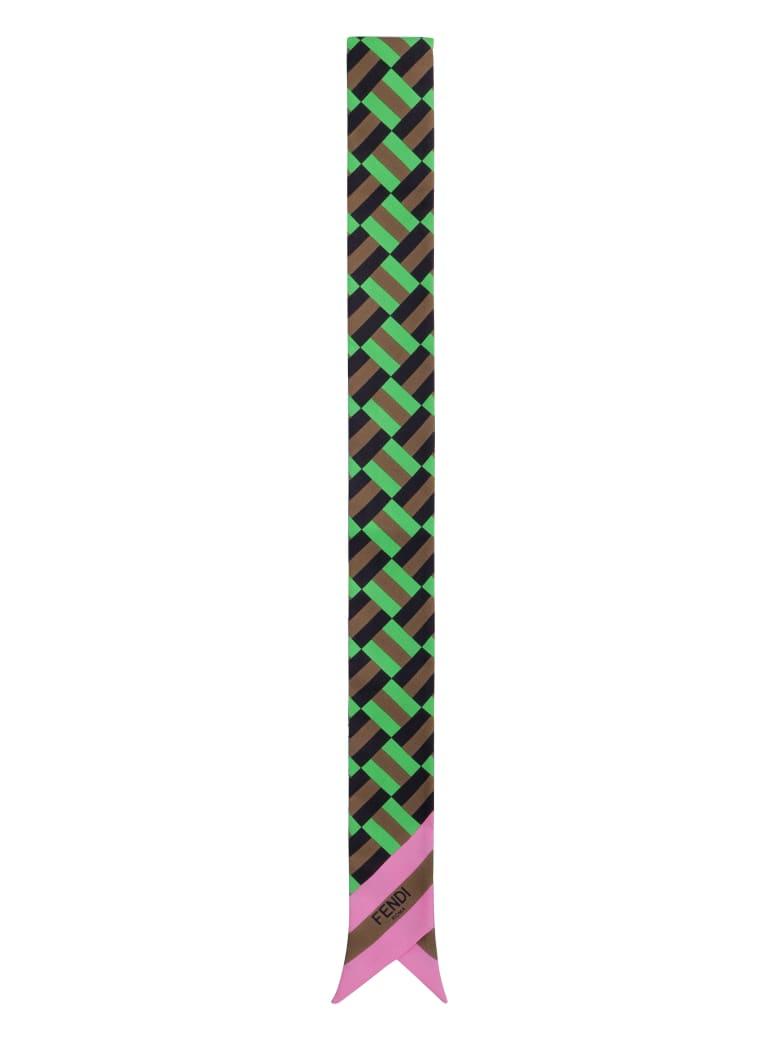 Fendi Printed Silk Bandeau - Multicolor