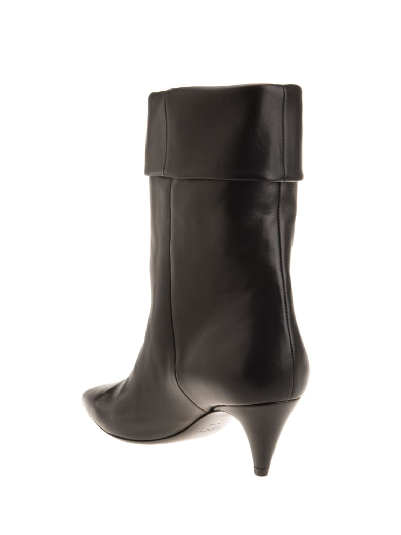 Saint Laurent Ankle Boot With Cuff - Nero