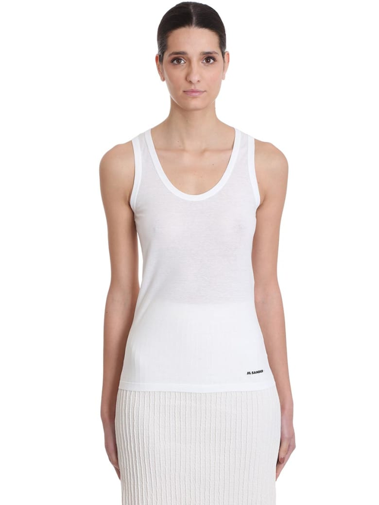 Jil Sander Topwear In White Cotton - white