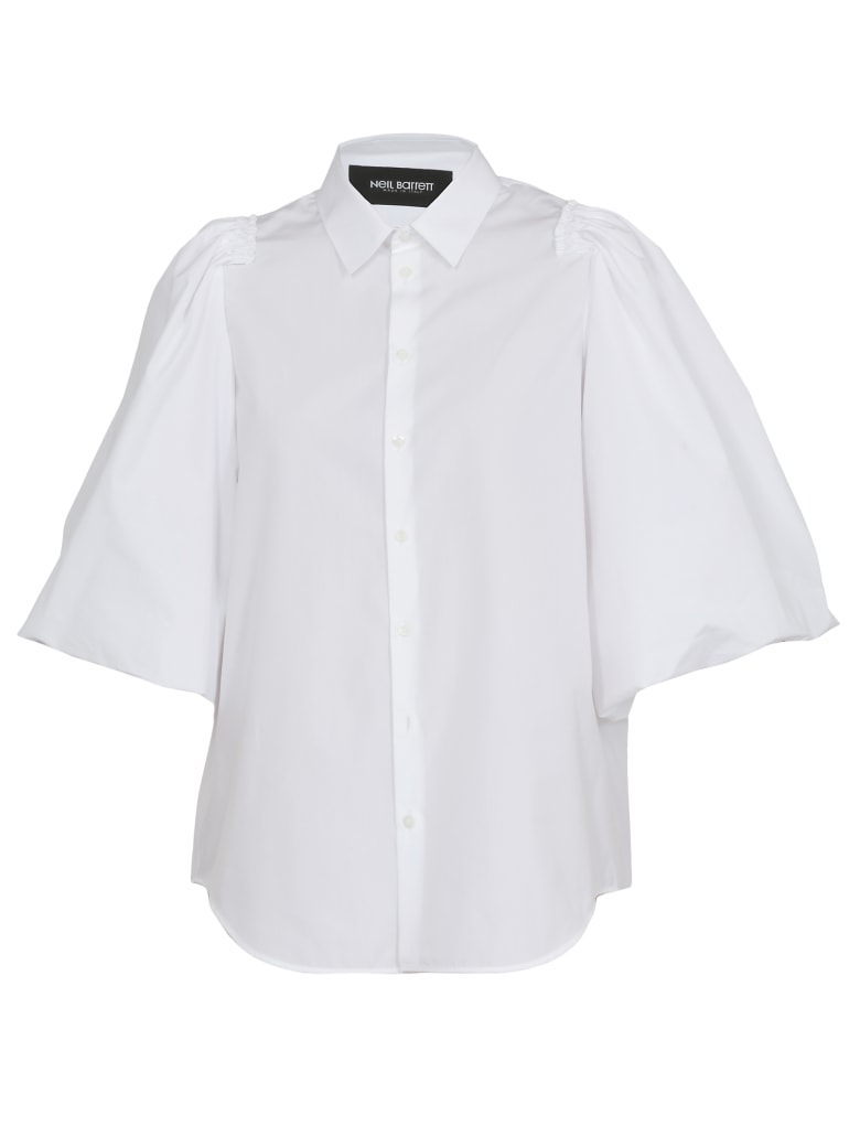 Neil Barrett Shirt With Ruffle - WHITE
