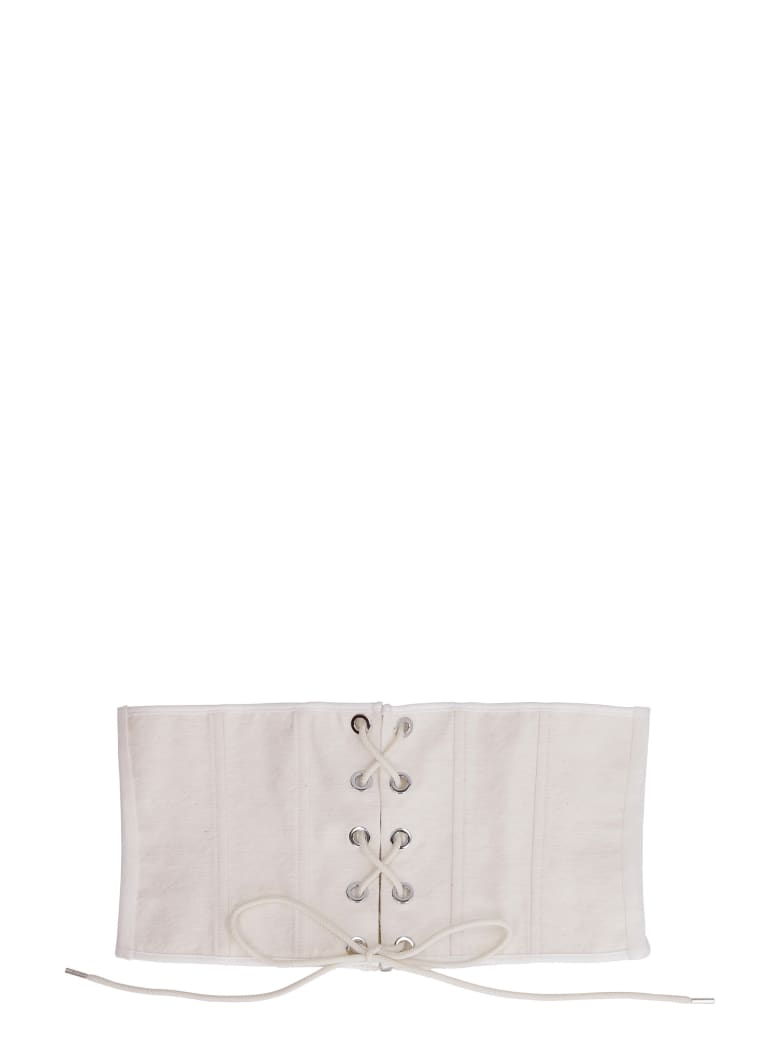 Pinko Rapunzel Jacquard Motif Corset - Ivory