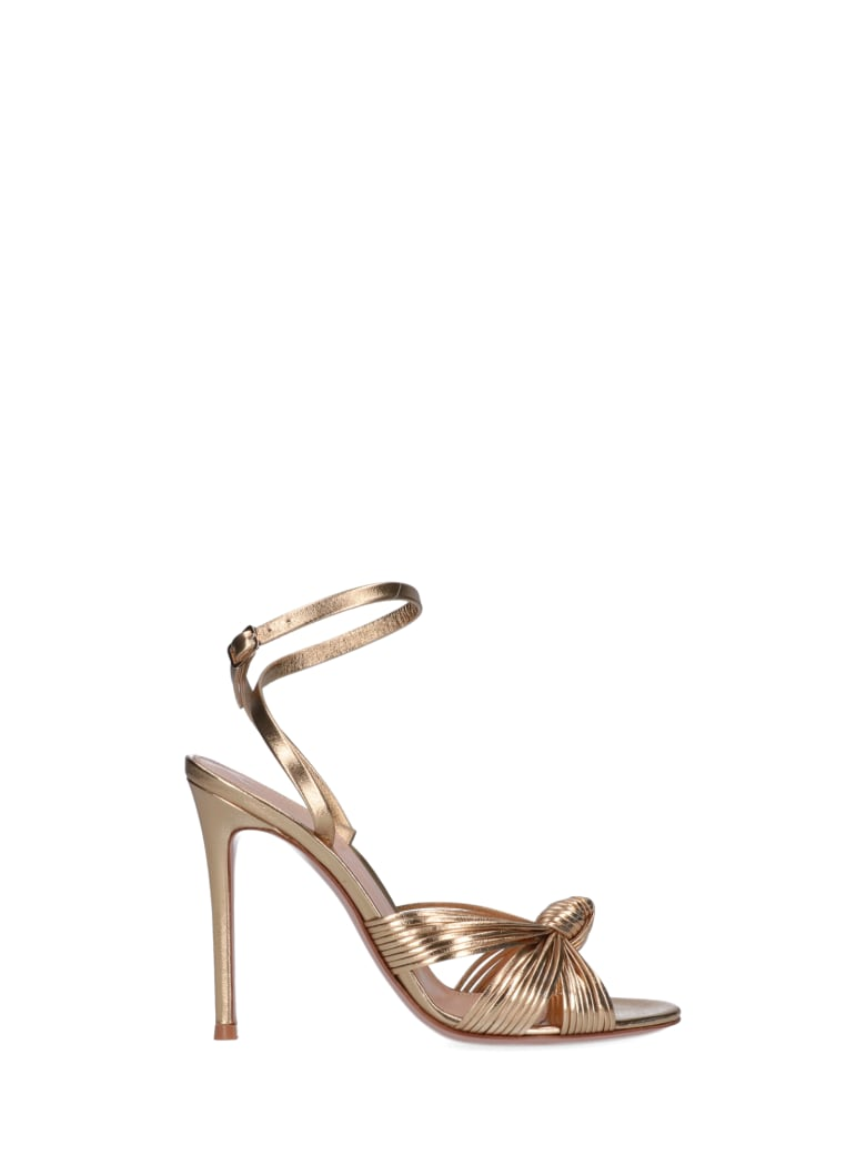 Gianvito Rossi Front Knot Sandals - Gold