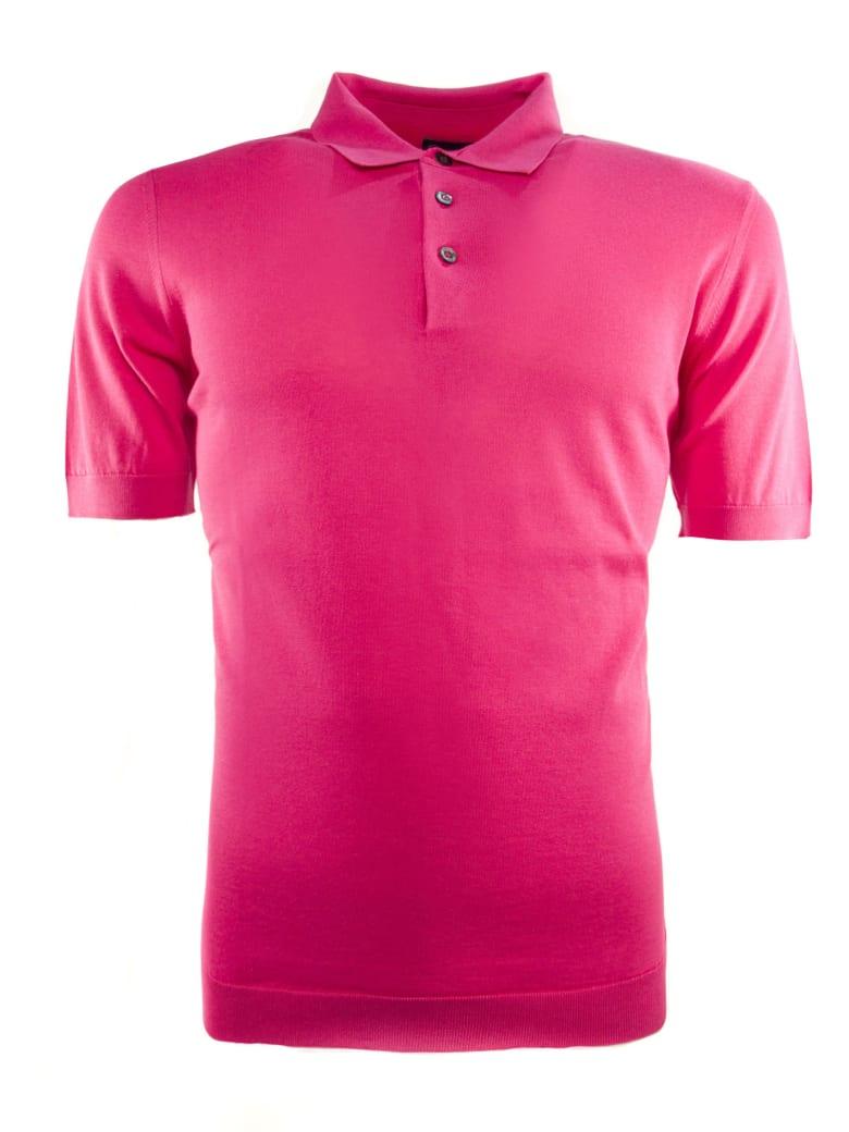 Drumohr Fuchsia Cotton Polo Shirt - Fuxia