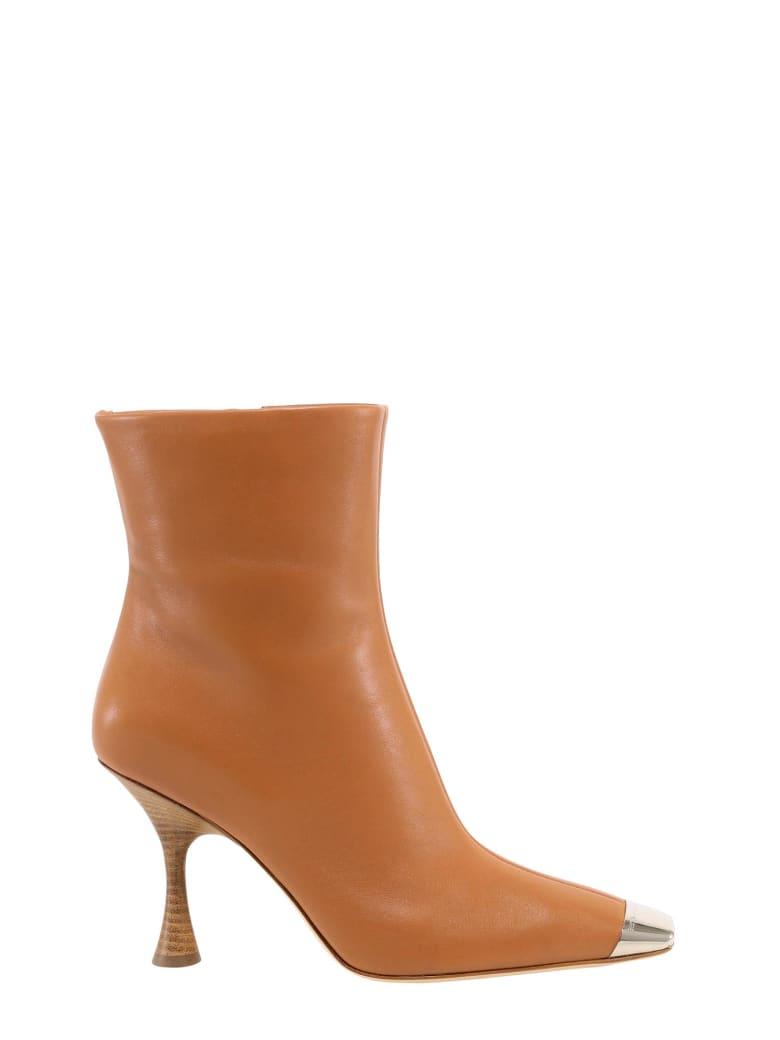 Sergio Rossi Toe-cap Sculpted Boots - Brown