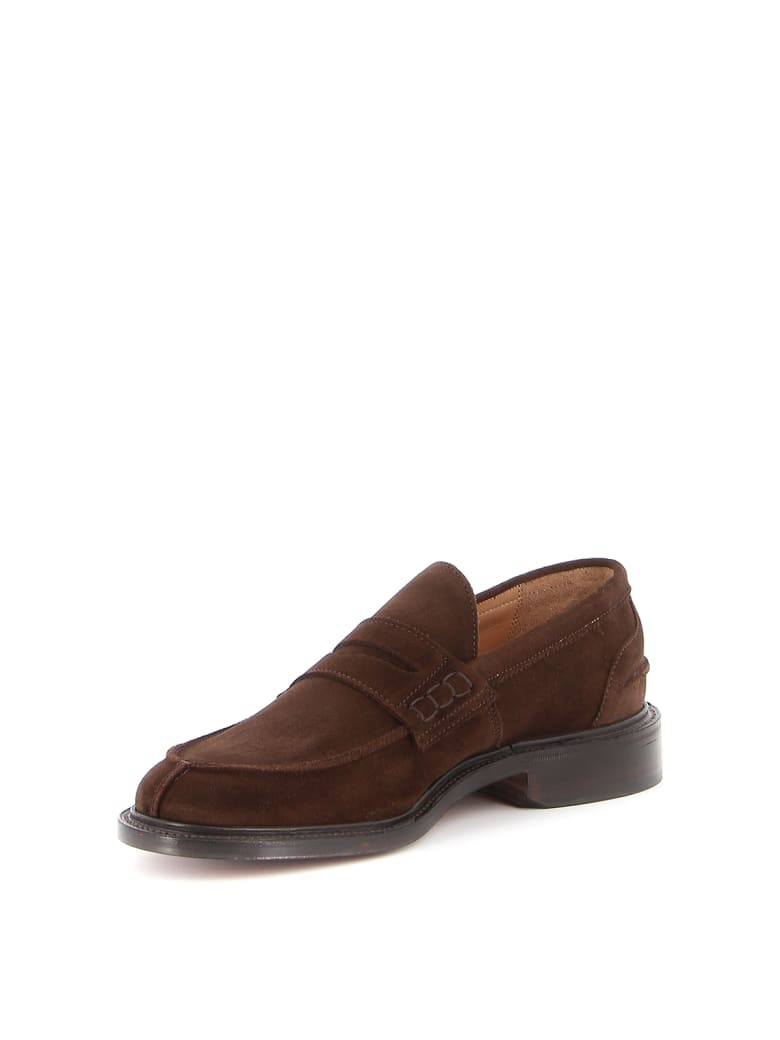 Tricker's James Penny Loafer Suede - Chocolate