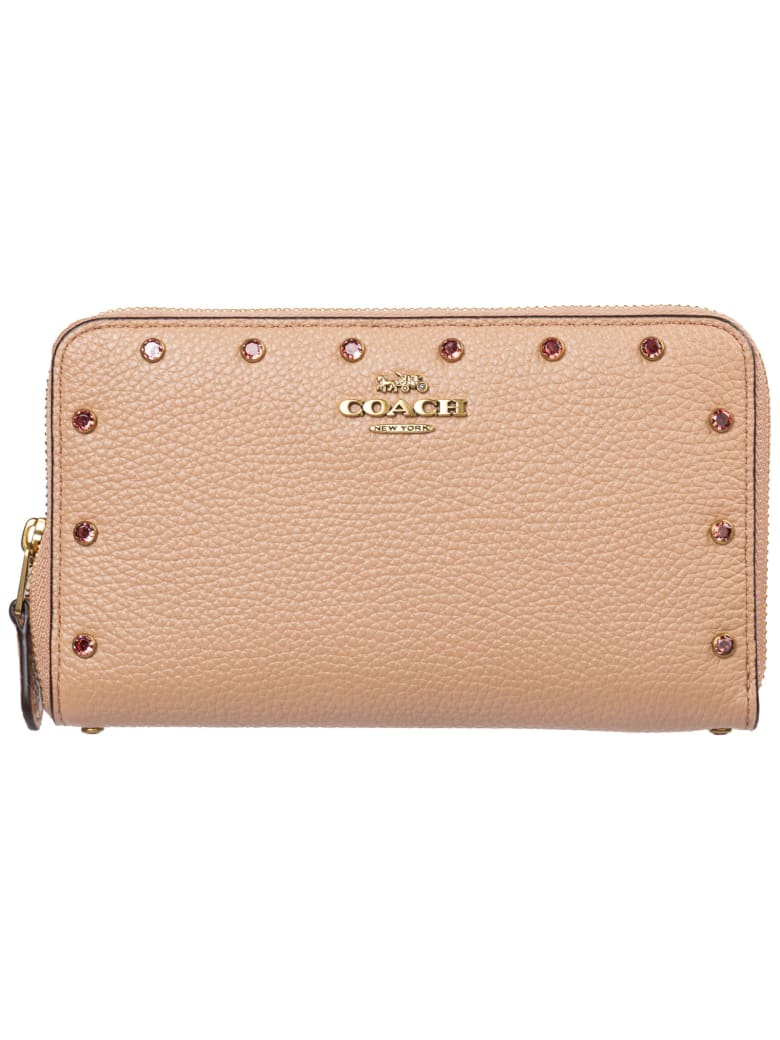 Coach Bounce Wallet - B4 / Nude pink