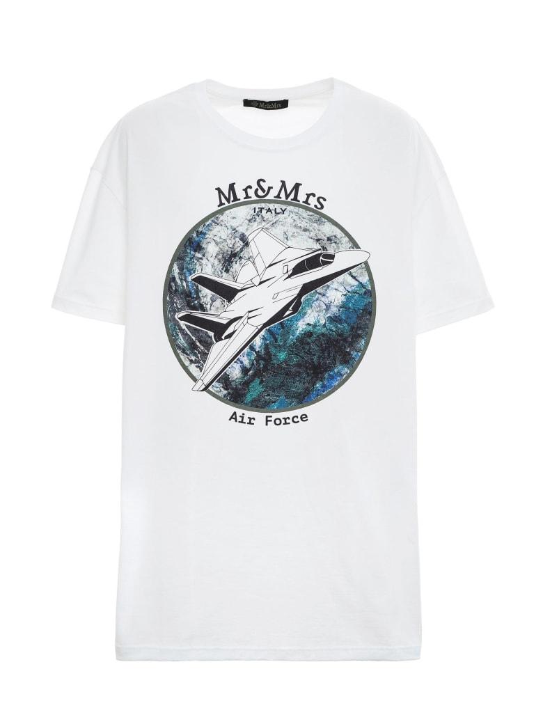 Mr & Mrs Italy Space-inspired Oversized T-shirt For Man - WHITE