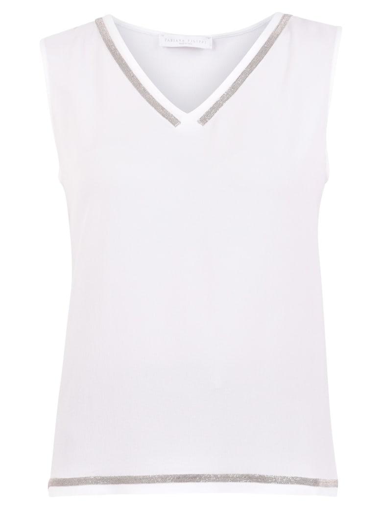 Fabiana Filippi Embellished Blouse - White