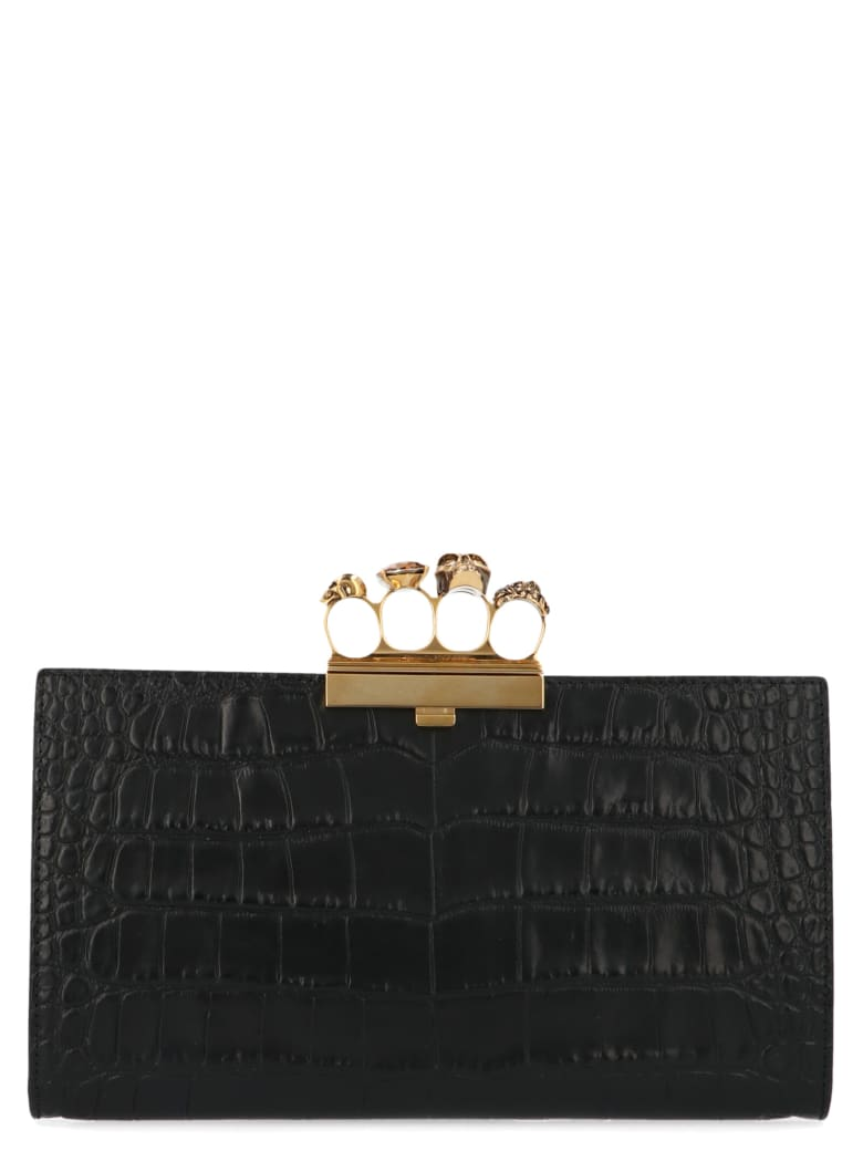 Alexander McQueen 'four Rings' Bag - Black