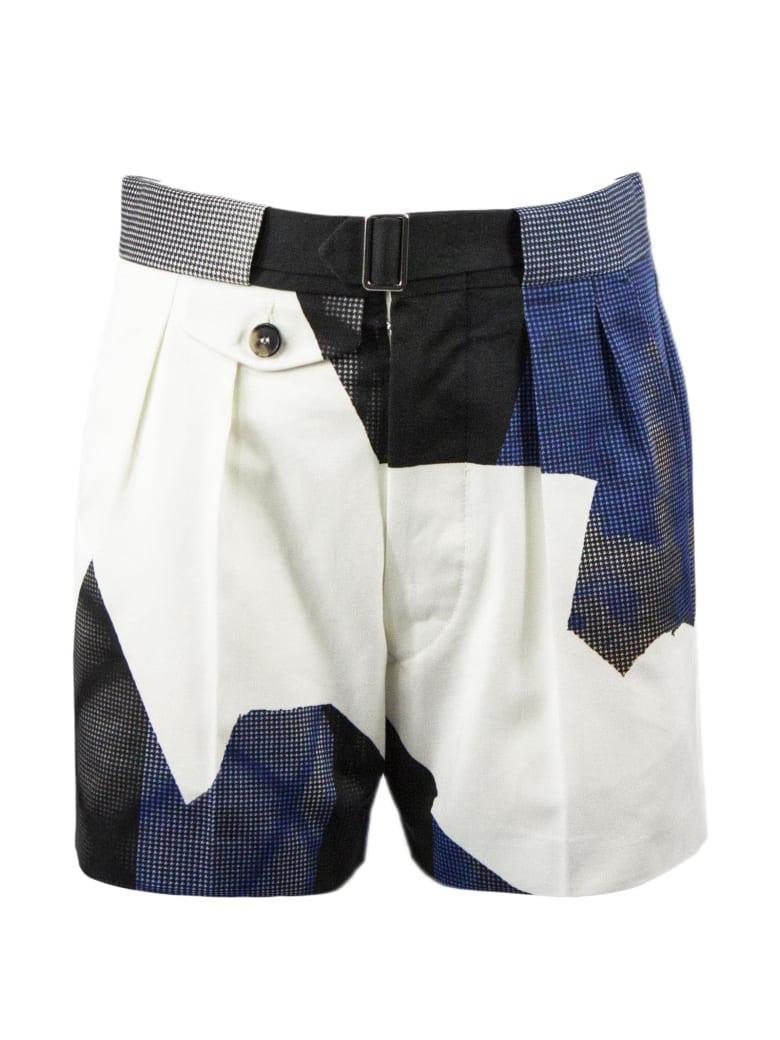 Maison Margiela Cotton Patchwork Shorts - Fantasia