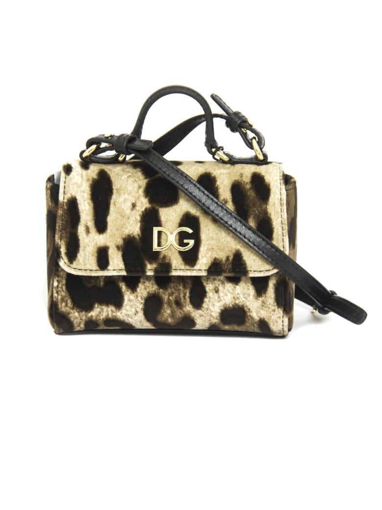 Dolce & Gabbana Leopard-print Velvet Handbag - Maculato