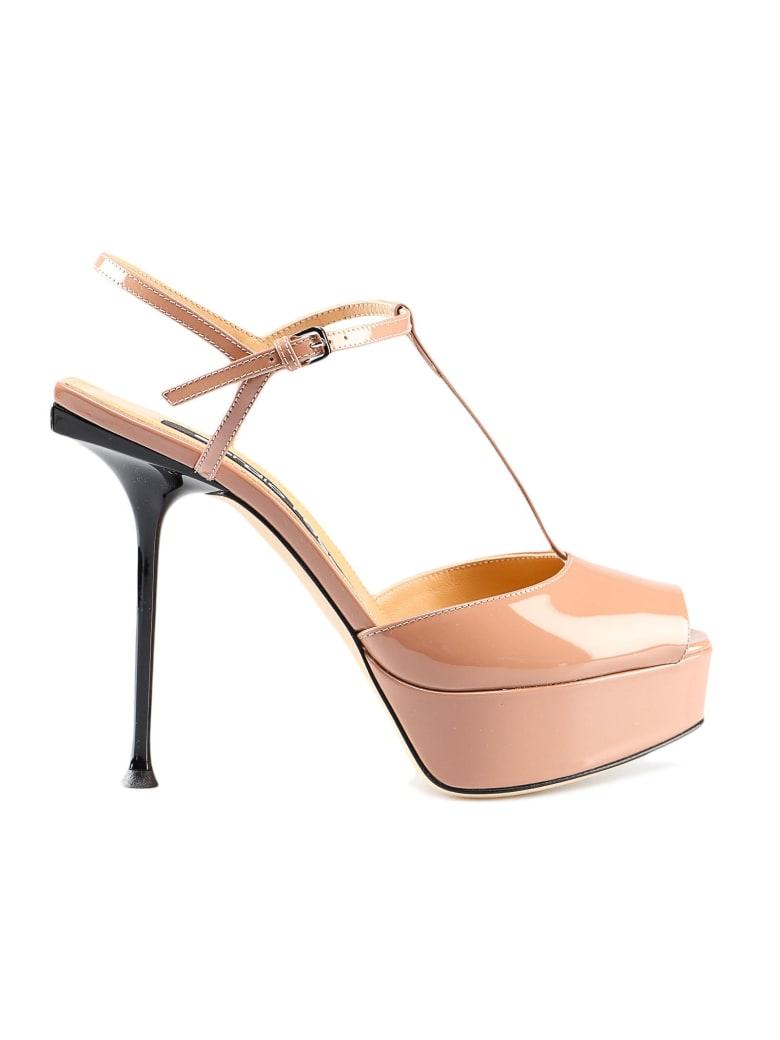 Sergio Rossi Sr Milano H90 Sandal - Bright Skin