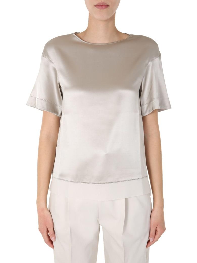 Fabiana Filippi Boat Neck T-shirt - TORTORA