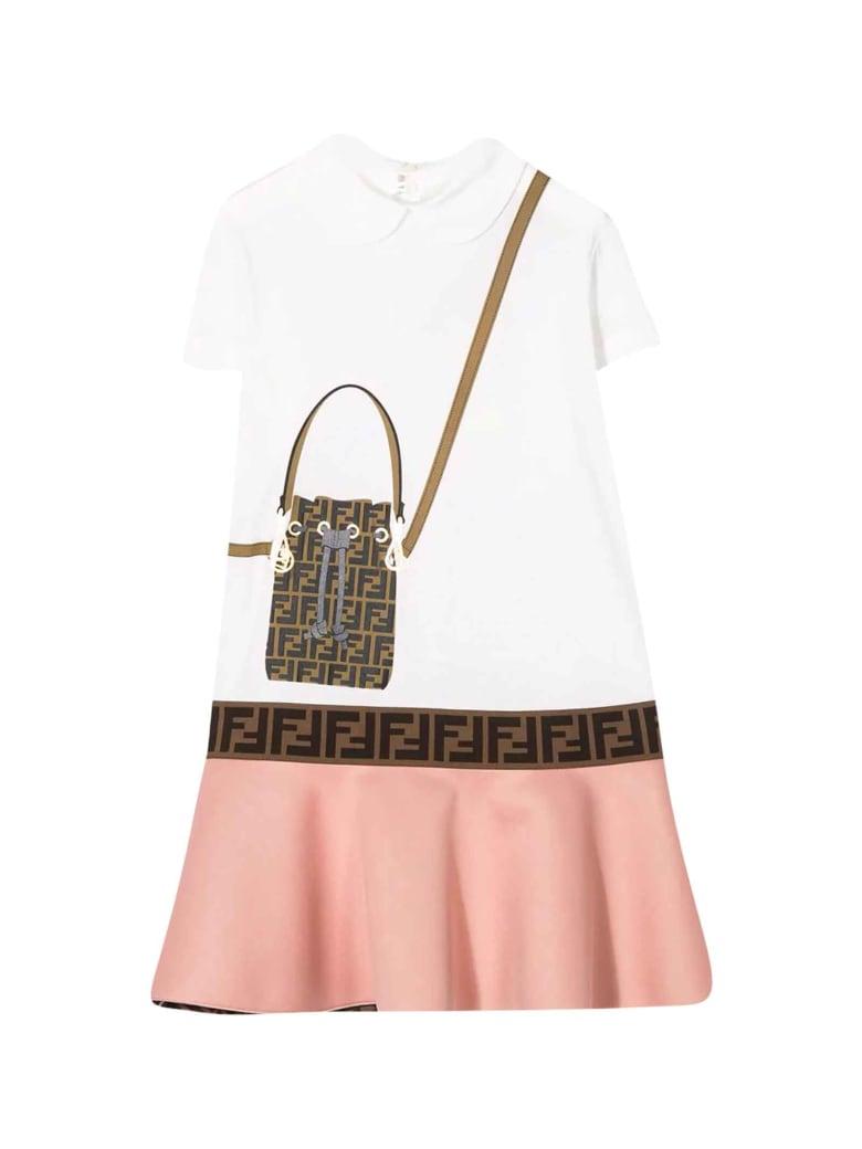Fendi Two-tone Dress - Avorio/rosa