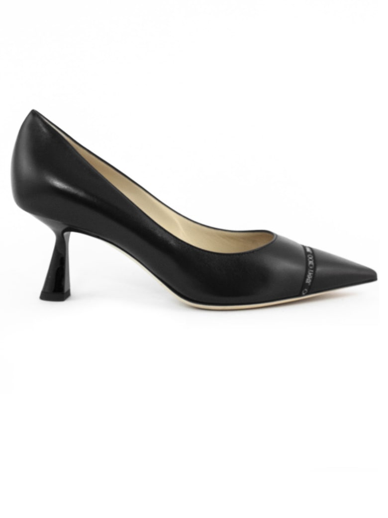 Jimmy Choo Black Nappa Leather Rene Pumps - Nero