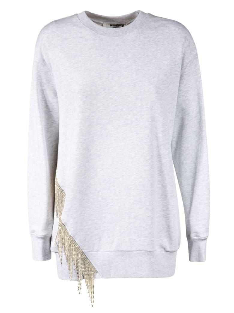 MSGM Fringed Detail Sweatshirt - Light Grey