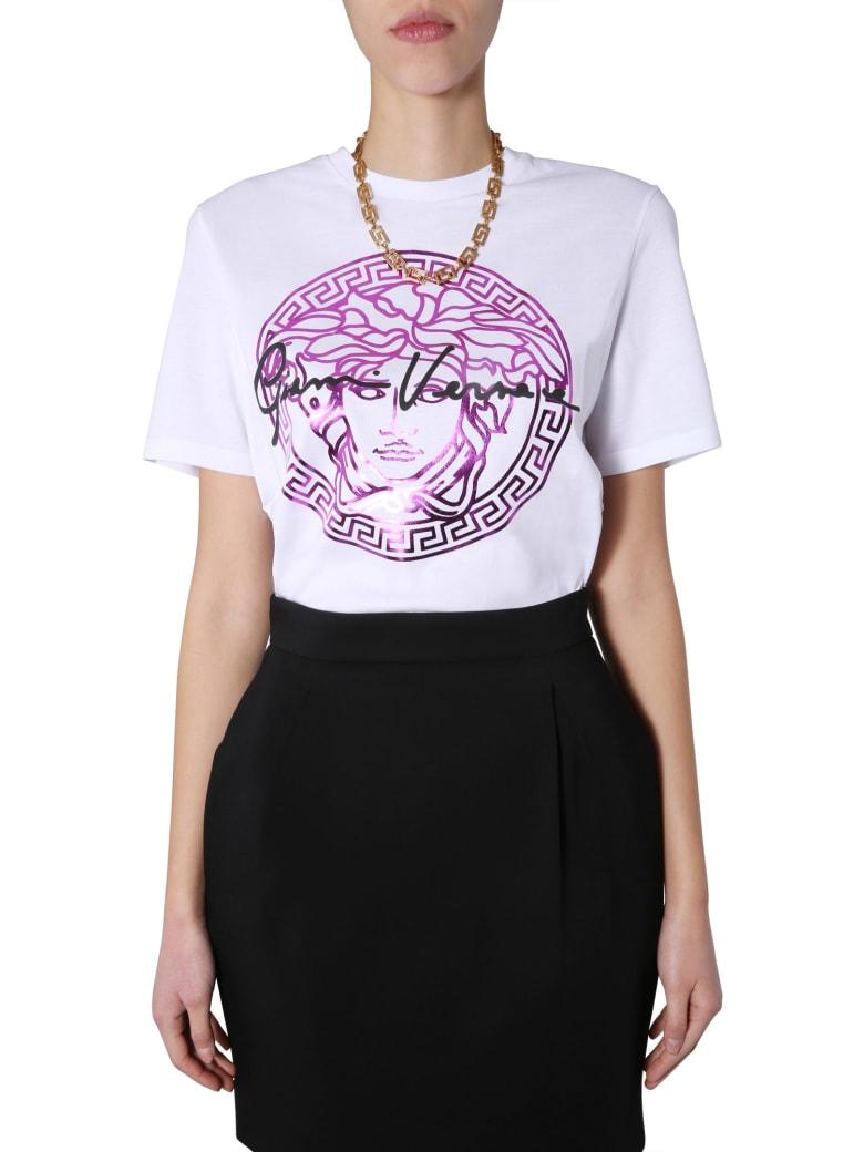 Versace Round Neck T-shirt - FUCSIA