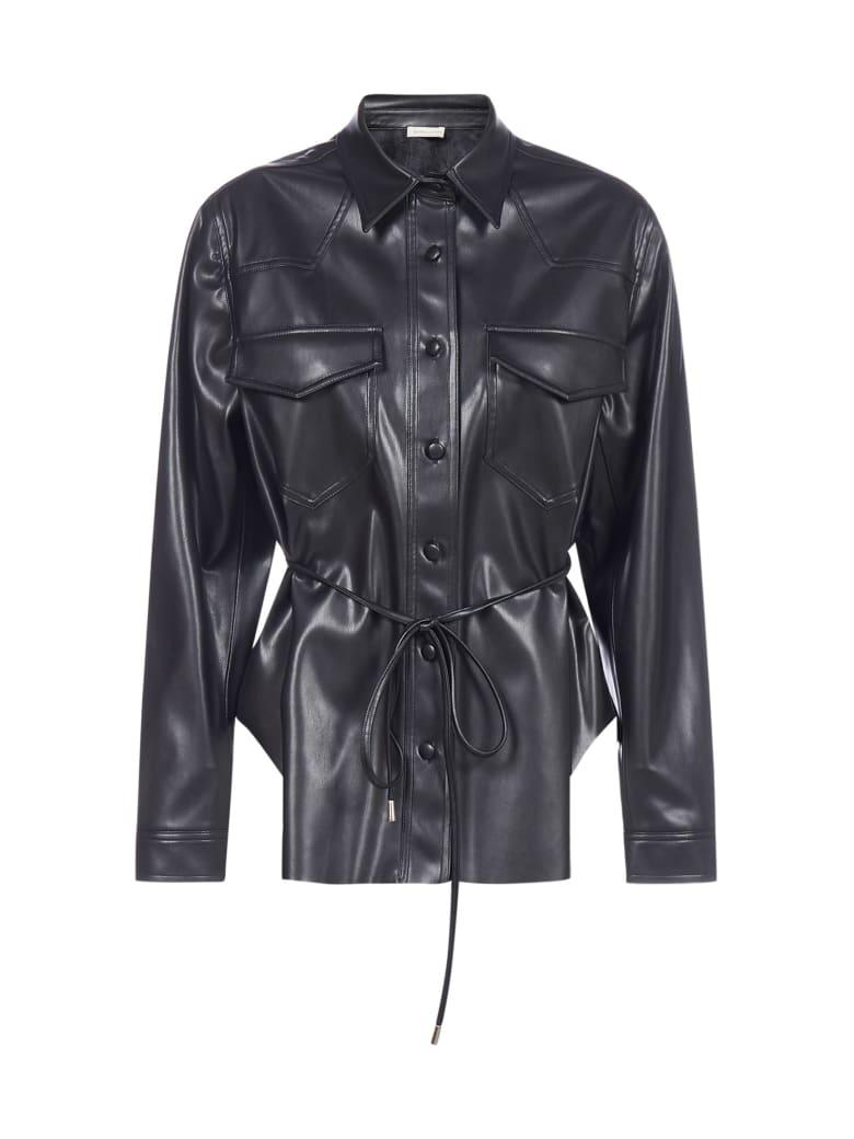 Blanca Vita Cleo Vegan Leather Shirt-jacket - Onice