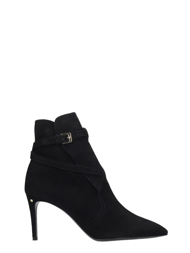 Laurence Dacade Velina High Heels Ankle Boots In Black Suede - black