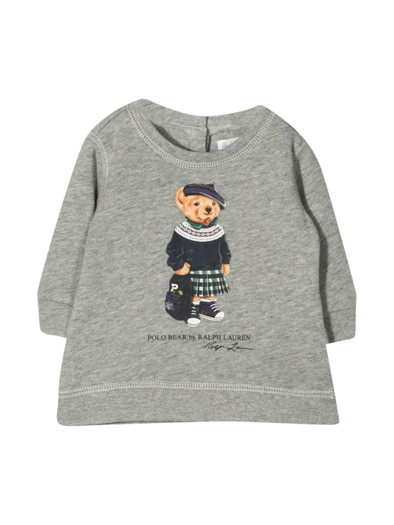Ralph Lauren Newborn Gray Polo Shirt - Unica