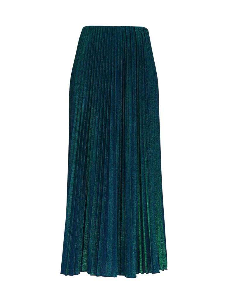 M Missoni Pleated Lurex Long Skirt - Blu