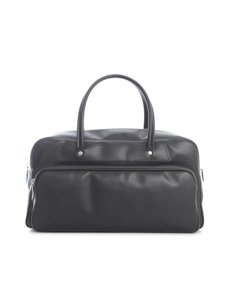 Comme des Garçons Comme des Garçons Synthetic Leather Large Tote Bag - Black