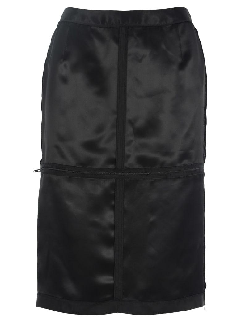 MM6 Maison Margiela Mm6 Mm6 Zip Panelled Pencil Skirt - BLACK