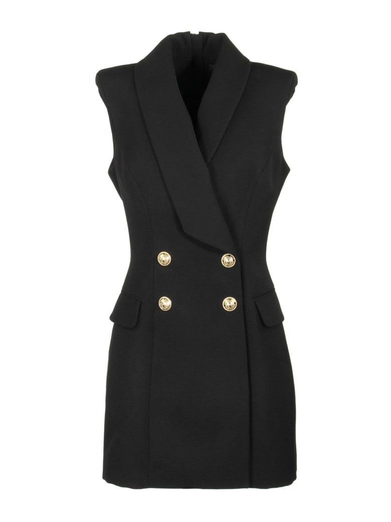 Balmain Double-breasted Sleeveless Dress Black - Black