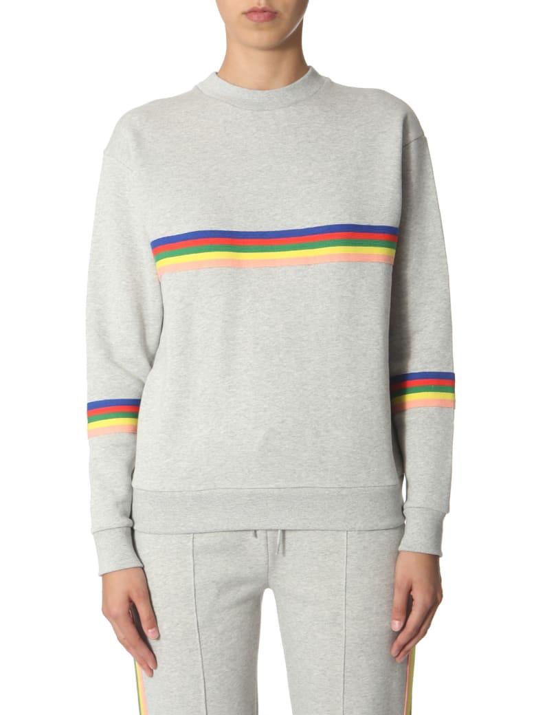 Etre Cecile Sweatshirt With Rainbow Bands - GRIGIO