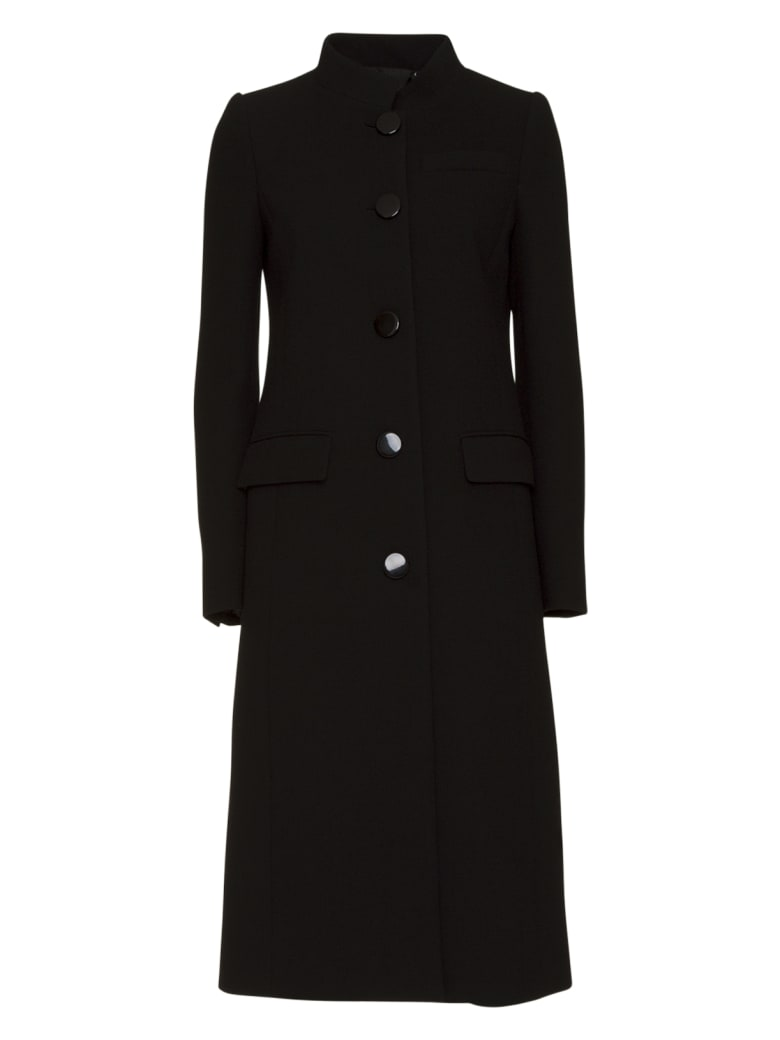 Givenchy Single-breasted Wool Coat In Black - NERO