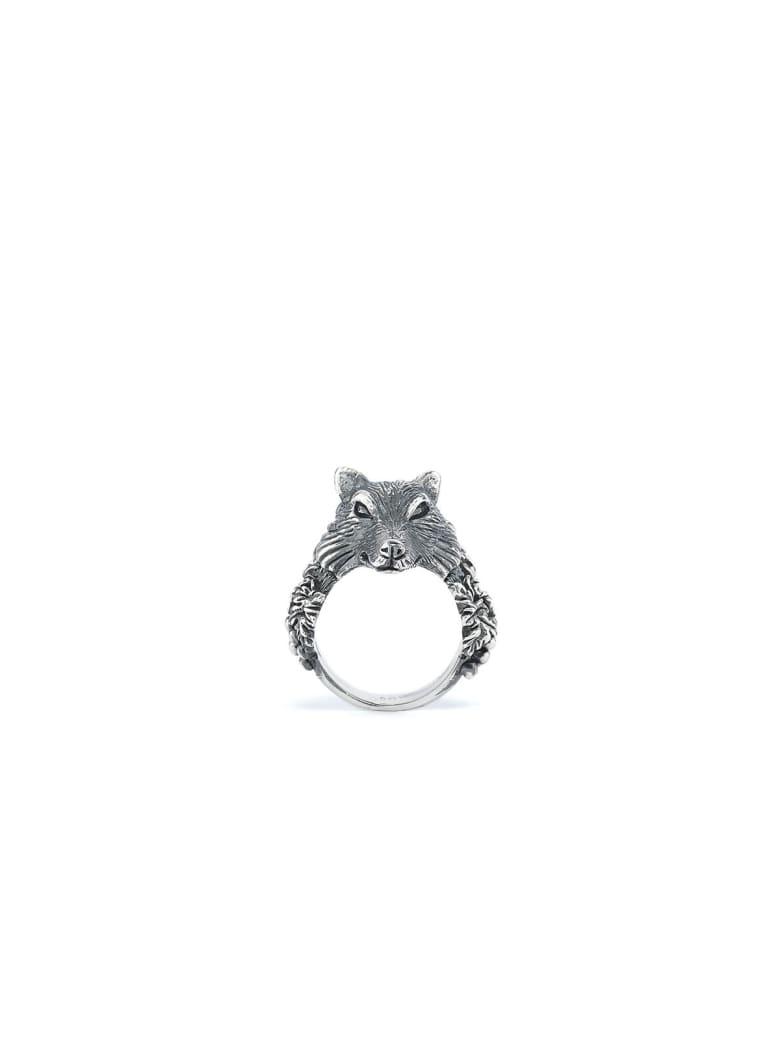 Ugo Cacciatori Small Wolf Ring - Silver